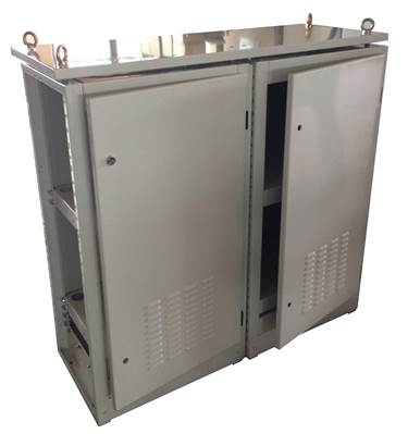 battery cabinet with eyelifting hook